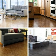 Cork Flooring from Candice Olson: Clean, Comfortable, Affordable (basement) Grey Hardwood Floors, Prefinished Hardwood, Condo Living, Home And Living, Living Spaces, Home Carpet, Diy Carpet, Carpet Ideas, Deep Carpet Cleaning