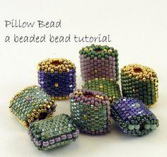 Modèle de perle perlée - Peyote Stitch oreiller Bead - instantanée télécharger…