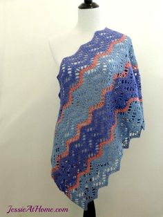 Christina Crochet Wrap ~ love the pattern but with different colors please....