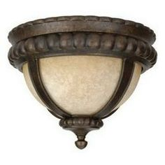 Z1217-112 Peruvian Bronze Ceiling Fixtures Tuscan Single Light Down Lighting Outdoor Flush. Craftmade.