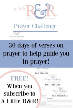 Receive this 30-page printable Prayer Challenge pack to help you have a more effective prayer life!