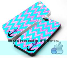 Chevron-Anchor-Sparkly - Print on hardplastic for iPhone 4/4s and 5 case, Samsung Galaxy S3/S4 case.
