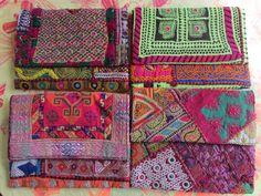 Sobres de textiles de la India.