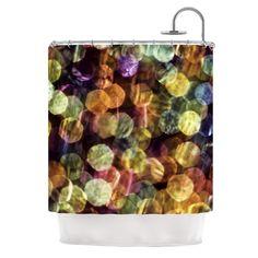 """Ingrid Beddoes """"Warm Sparkle"""" Shower Curtain - Outlet Item"""