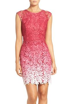 Adelyn Rae Ombré Lace Sheath Dress available at #Nordstrom