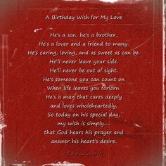 Happy Birthday My Love Birthday Quotes For Him regarding Bday Quotes For Him - Best Birthday Party Ideas Birthday Message For Him, Happy Birthday Quotes For Him, Birthday Wish For Husband, Happy Birthday My Love, Best Birthday Wishes, Birthday Wishes Quotes, Happy Quotes, Birthday Blessings, Birthday Messages