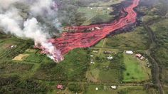 Credit: Mileka Lincoln on FB.  Crazy lava flow going on in Puna right now.  It was flowing 300 yards an hour earlier today.  More info can be found here but there are better videos out there:  https://volcanoes.usgs.gov/volcanoes/kilauea/status.html