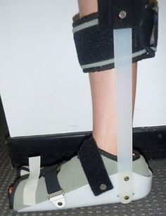 Figure 8: A rigid night splint to keep the foot at 90 degree angle.