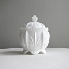Fenton+Cactus+Pattern+Milk+Glass+Covered+by+BarkingSandsVintage,+$58.00