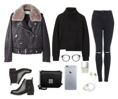 """""""winter"""" by ktsarskaya ❤ liked on Polyvore featuring Acne Studios, Proenza Schouler, Topshop, L.Credi, RetroSuperFuture and Butter London"""