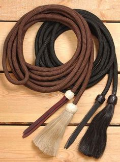 Royal King Black Cord Draw Reins horse tack equine 43-1002
