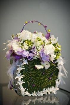 white and lavender flower purse, Françoise Weeks
