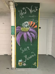 Chalk wall art liquid chalks  Bee honey flower