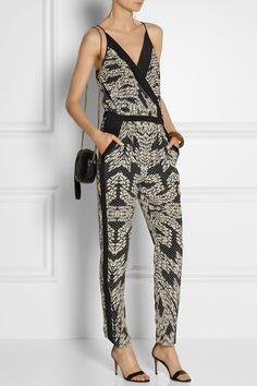 Diane von Furstenberg Shany printed silk jumpsuit NET-A-PORTER.COM