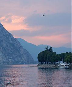 Lake Como in Lecco, Italy