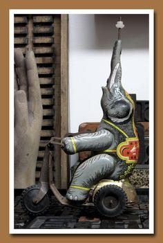 Vintage elephant mechanical toy