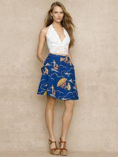 ! Nautical-Print Skirt - Short Skirts  Skirts - RalphLauren.com