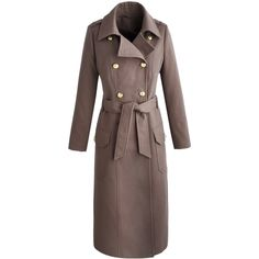 Simply Be Joanna Hope Military Coat ($165) ❤ liked on Polyvore featuring outerwear, coats, mink, calf length coat, double breasted belted coat, military field coat, double-breasted coat and field coat