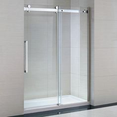 OVE Decors Sierra H x to W Frameless Bypass/Sliding Polished Chrome Shower Door at Lowe's. Go airy and modern with the premium Sierra frameless glass shower enclosure. State-of-the-art German engineering guides the smooth and silent shower Glass Panel Door, Glass Panels, Frameless Sliding Shower Doors, Sliding Doors, Glass Shower Enclosures, Shower Kits, Shower Panels, Hardware, Home Decor