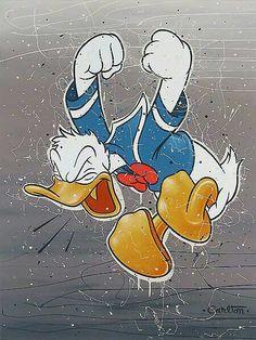 Trevor Carlton Disney, Trevor Carlton Art, Disney Art, All Quacked Up Mickey Mouse Art, Mickey Mouse Wallpaper, Mickey Mouse And Friends, Cute Disney Wallpaper, Minnie Mouse, Disney Duck, Disney Love, Disney Mickey, Disney Art