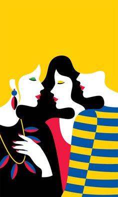 Modeconnect.com - Graphic fashion illustrations by French illustrator Malika Favre