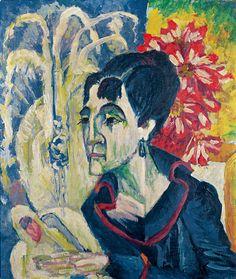 "Entartete KunstE.L. Kirchner ""Frau des Künstlers"" (Die Gattin des Künstlers)"