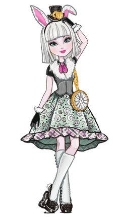 Bunny blanc-filha do coelho branco em Alice no país das maravilhas