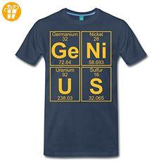 Ge-Ni-U-S Genius Genie Chemie Periodensystem Männer Premium T-Shirt von Spreadshirt®, L, Navy - T-Shirts mit Spruch | Lustige und coole T-Shirts | Funny T-Shirts (*Partner-Link)
