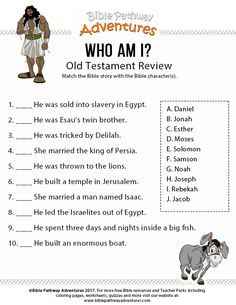 Hebrew is the language of the Bible and often deemed as sacred but this is not the only reason why people choose to learn this ancient language. Bible Study For Kids, Bible Lessons For Kids, Bible Stories For Kids, Kids Bible, Quiz Biblico, Old Testament Bible, Bible Activities For Kids, Easter Activities, Bible Questions