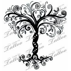 Whimsical Tree of Life | Whimsical Tree Tat 3 #12761 | CreateMyTattoo.com