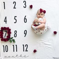 Cute baby calendar picture Pregnancy First, Pregnancy Trimesters Born Baby Photos, Monthly Baby Photos, Newborn Pictures, Baby Pictures, Baby Kalender, Baby Christmas Photos, Calendar Pictures, Baby Shots, Baby Poses