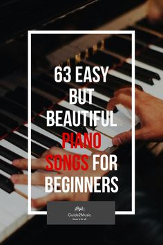 Are you beginner on the piano? Would you want to feel the joy of playing beautiful songs? Here is a selection of 63 easy but beautiful songs for piano! Piano Songs For Beginners, Learn Piano Beginner, Piano Lessons For Beginners, Easy Piano Sheet Music, Music Sheets, Keyboard Piano, Playing Piano, Piano Teaching, Beautiful Songs