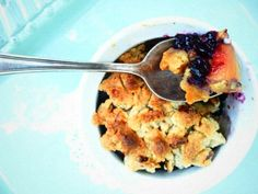 Blueberry Peach Pecan Crumble...and it's gluten free!