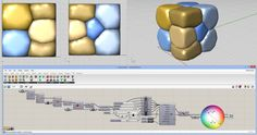 Inflate multiple balloons within a boundary volume (using Kangaroo). - Grasshopper