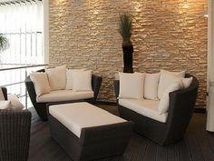 RIVESTIMENTO INTERNO IN PIETRA RICOSTRUITA Outdoor Sectional, Sectional Sofa, Outdoor Furniture Sets, Outdoor Decor, Tv, Home Decor, Google, Houses, Decoration Home