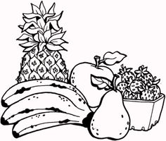Fresh Fruit Coloring Pages For Kids