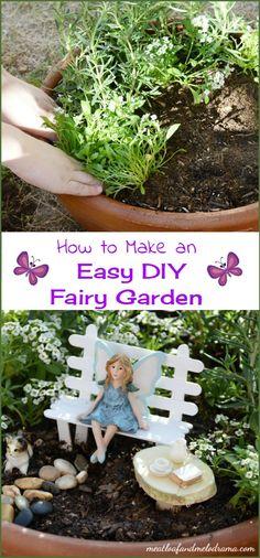 how to make an easy DIY fairy garden