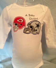 Hey, I found this really awesome Etsy listing at https://www.etsy.com/listing/169782695/free-shipping-nfl-baby-divided-shirt
