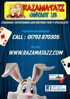 Razamatazz Professional Children's Entertainers specialising in family entertainment