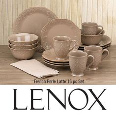 LUSCIOUS LATTE!French Perle Latte is the latest addition to this stylish Lenox collection. Crafted of dishwasher-safe stoneware in a rich contemporary color, French Perle Latte will look great on your table and is perfect for every occasion from brunch to banquets. Available exclusively at Bed Bath & Beyond stores and online atwww.bedbathandbeyond.com. Which French Perle color is your favorite?