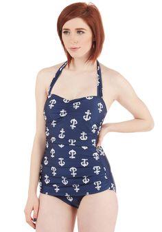 Swimwear - Bathing Beauty One-Piece Swimsuit in Anchors
