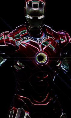 Iron man, dark, shining, iron suit, digital art, 480x800 wallpaper