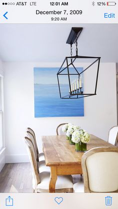 """Clean and fresh Hamptons dining, set against 'pointing white"""" walls with black geometric lines vs. French bleached curves. #billyrobertsdesign"""