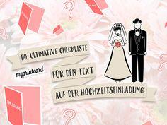 Die ultimative Checkliste für den Text auf der Hochzeitseinladung