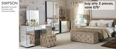Bedroom Furniture - Page 16 Dressing Table Vanity, Chrome Handles, Beveled Mirror, Console Table, Bedroom Furniture, Luxury, House, Stuff To Buy, Bedrooms