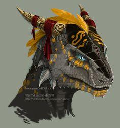 Black Dragonborn/Lizardman