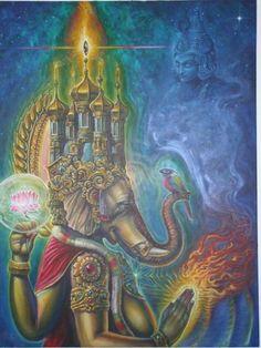 ganesh by thothflashpan on DeviantArt Cosmos, Psychedelic Art, Tantra, Arte Ganesha, Shri Ganesh, Lord Ganesha, Lord Shiva, Om Gam Ganapataye Namaha, Reiki