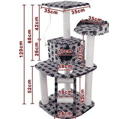 Cat Scratching Poles Post Furniture Tree House Condo Black Grey for sale online Cat Scratching Tree, Scratching Post, Cat Tree Plans, Cat Playhouse, Cat Gym, Giant Cat, Diy Cat Tree, Cat Towers, Pet Furniture