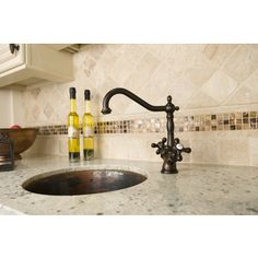 Give your kitchen a modern update with this decorative brass faucet. Featuring an oil rubbed bronze finish, this faucet will make your kitchen decor feel classy. Black Kitchen Faucets, Bronze Kitchen, Kitchen Sinks, Pot Filler Faucet, Diy Kitchen Remodel, Kitchen Remodeling, Kitchen Upgrades, Remodeling Ideas, Clever Kitchen Storage