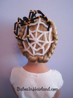 Spiderweb Hairstyle | Halloween Hairstyles (1)
